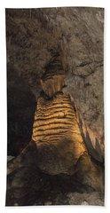 Lighted Stalagmite Bath Towel by James Gay