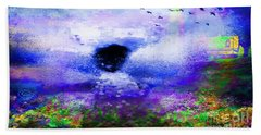 Lighthouse Angel Purple In Hotty Totty Style Bath Towel