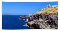 Lighthouse At Anacapa Island, Channel Hand Towel