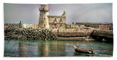Lighthouse At Howth, Ireland Bath Towel
