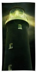 Lighthouse At Night Hand Towel