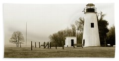 Lighthouse At Turkey Point Hand Towel