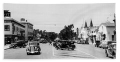 Lighthouse Avenue Downtown Pacific Grove, Calif. 1935  Hand Towel