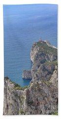 Lighthouse On The Cliff Bath Towel