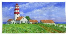 Lighthouse Pasture Hand Towel