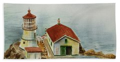 Lighthouse Point Reyes California Bath Towel