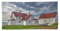 Keepers House At The Monheagn Lighthouse Hand Towel