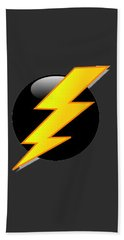 Lightning Bolt T-shirt Bath Towel by Herb Strobino