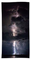 Lightning Bath Towel by Richard Zentner