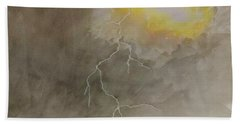 Bath Towel featuring the painting Lightning by Stacy C Bottoms