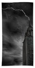 Lightning Strike Hand Towel by Martin Newman