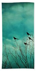 Like Birds On Trees Hand Towel by Trish Mistric