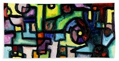 Like Clockwork Bath Towel by Regina Valluzzi