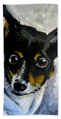 Lil Rat Terrier Hand Towel by Jeanette Jarmon