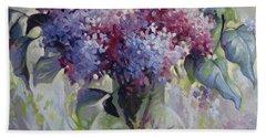 Lilac Bouquet Bath Towel by Elena Oleniuc