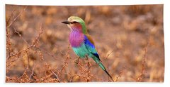 Lilac Breasted Roller Hand Towel