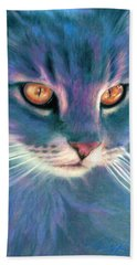 Lilac Cat Hand Towel