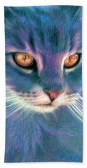 Lilac Cat Bath Towel