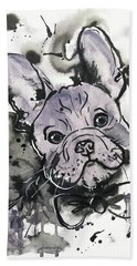 Lilac Frenchie Hand Towel