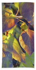 Lilac Leaves Hand Towel