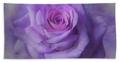Lilac Purple Rose Hand Towel