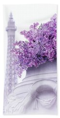 Lilac Tales Hand Towel by Iryna Goodall