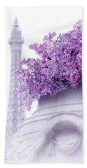 Lilac Tales Bath Towel by Iryna Goodall