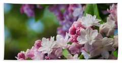 Lilacs Of Spring Bath Towel by Joni Eskridge