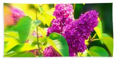 Bath Towel featuring the photograph Lilacs by Susanne Van Hulst