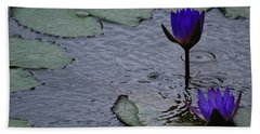 Lilies In The Rain Hand Towel