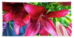 Lilies Bath Towel