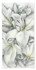Lilies Pencil Bath Towel