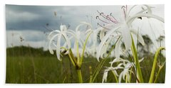 Lilies Thunder Bath Towel by Christopher L Thomley