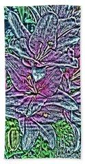 Lillies Hand Towel by Vickie G Buccini