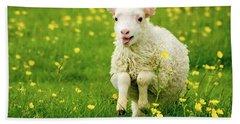 Lilly The Lamb Bath Towel by Joan Davis
