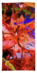 Lily Cobalt Orange Bath Towel