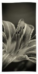 Hand Towel featuring the photograph Lily In Sepia by Chrystal Mimbs
