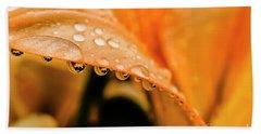 Lily In The Rain Bath Towel by Thomas R Fletcher