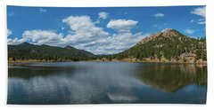 Lily Lake Panorama  Bath Towel