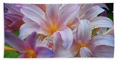 Lily Lavender Closeup Bath Towel