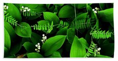 Lily Of The Valley Hand Towel by Elfriede Fulda