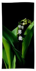 Lily Of The Valley Bath Towel by Living Color Photography Lorraine Lynch