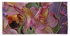 Lily Profusion 7 Bath Towel by Lynda Lehmann