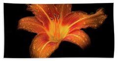 Lily Raindrops In Giverny, France Hand Towel