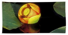 Hand Towel featuring the photograph Lily Reflection by Sandra Bronstein