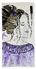 Bath Towel featuring the painting Lily's Dream by Jasna Gopic