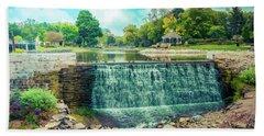 Lime Kiln Park Waterfall Bath Towel