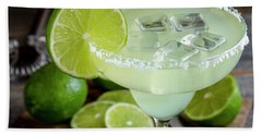 Hand Towel featuring the photograph Lime Margarita Drink by Teri Virbickis