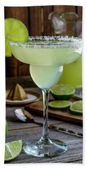 Hand Towel featuring the photograph Lime Margaritas by Teri Virbickis