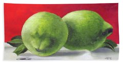 Limes Hand Towel by Tim Johnson